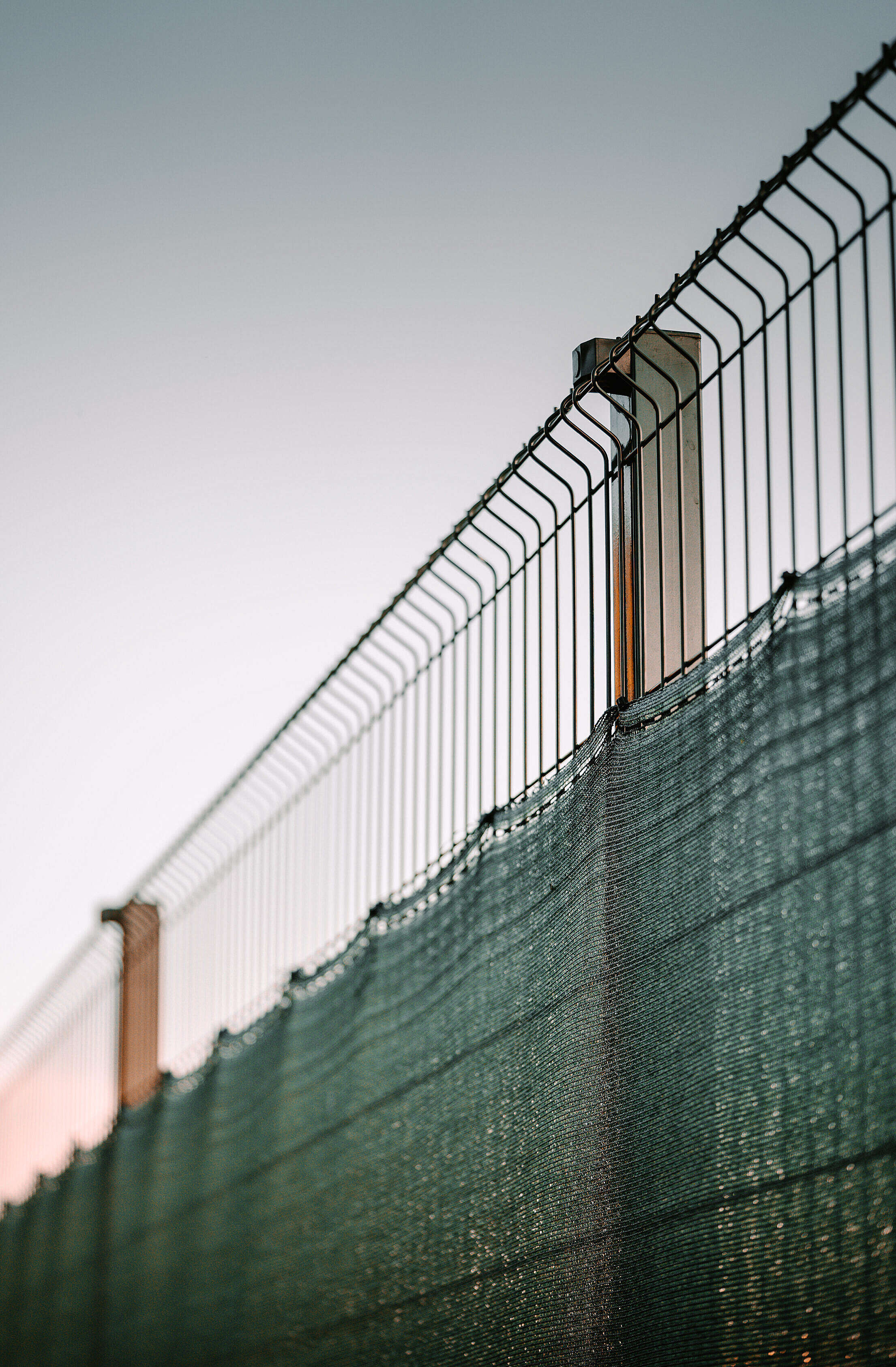 Modern Garden Metal Fence Free Stock Photo