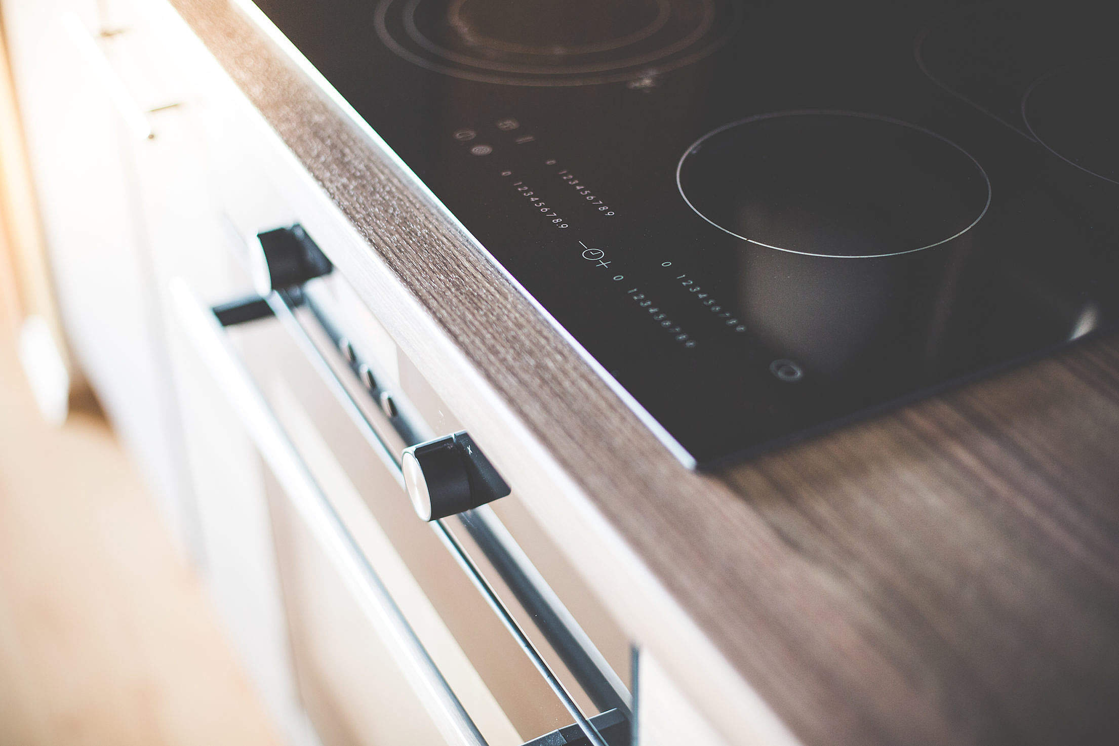 Modern Home Kitchen Glass Ceramic Cooker Close Up Free Stock Photo