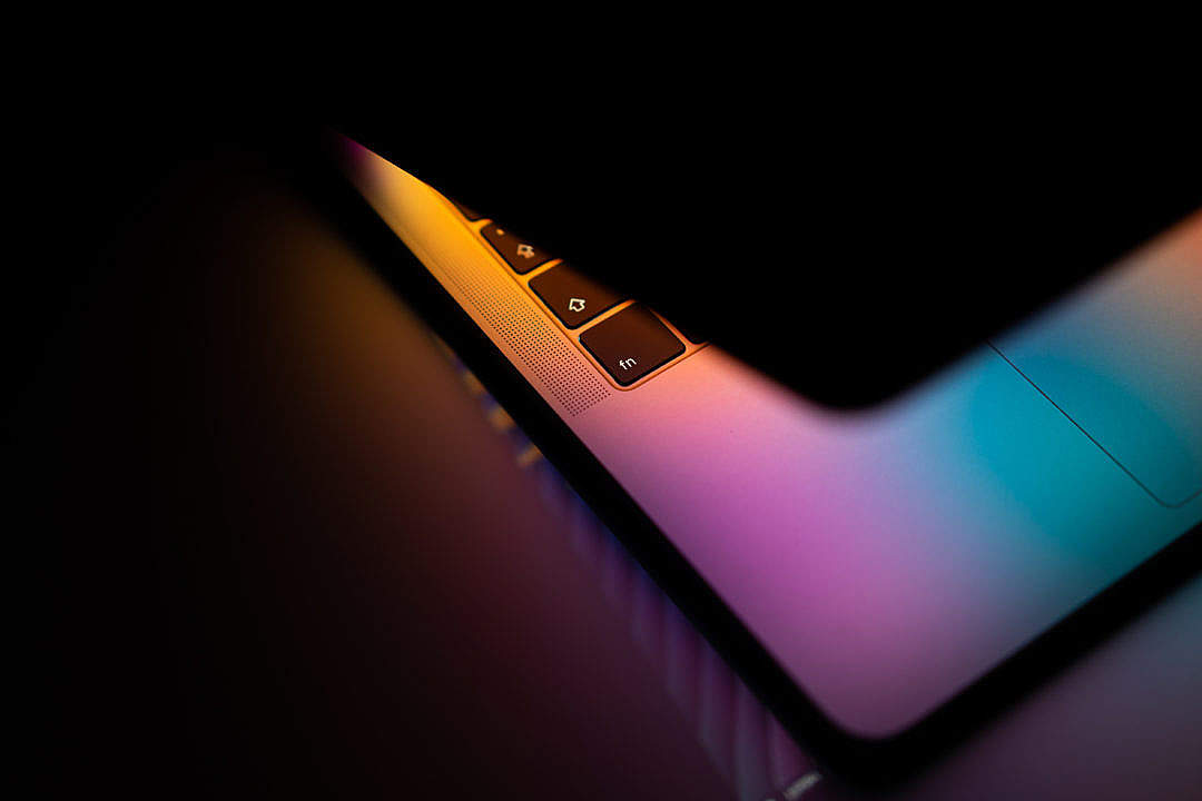 Download Modern Laptop Colorful Close Up FREE Stock Photo