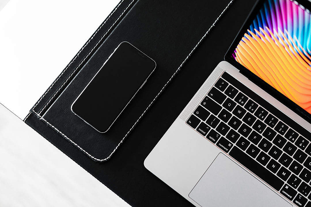 Download Modern Laptop with Smartphone 2019 FREE Stock Photo
