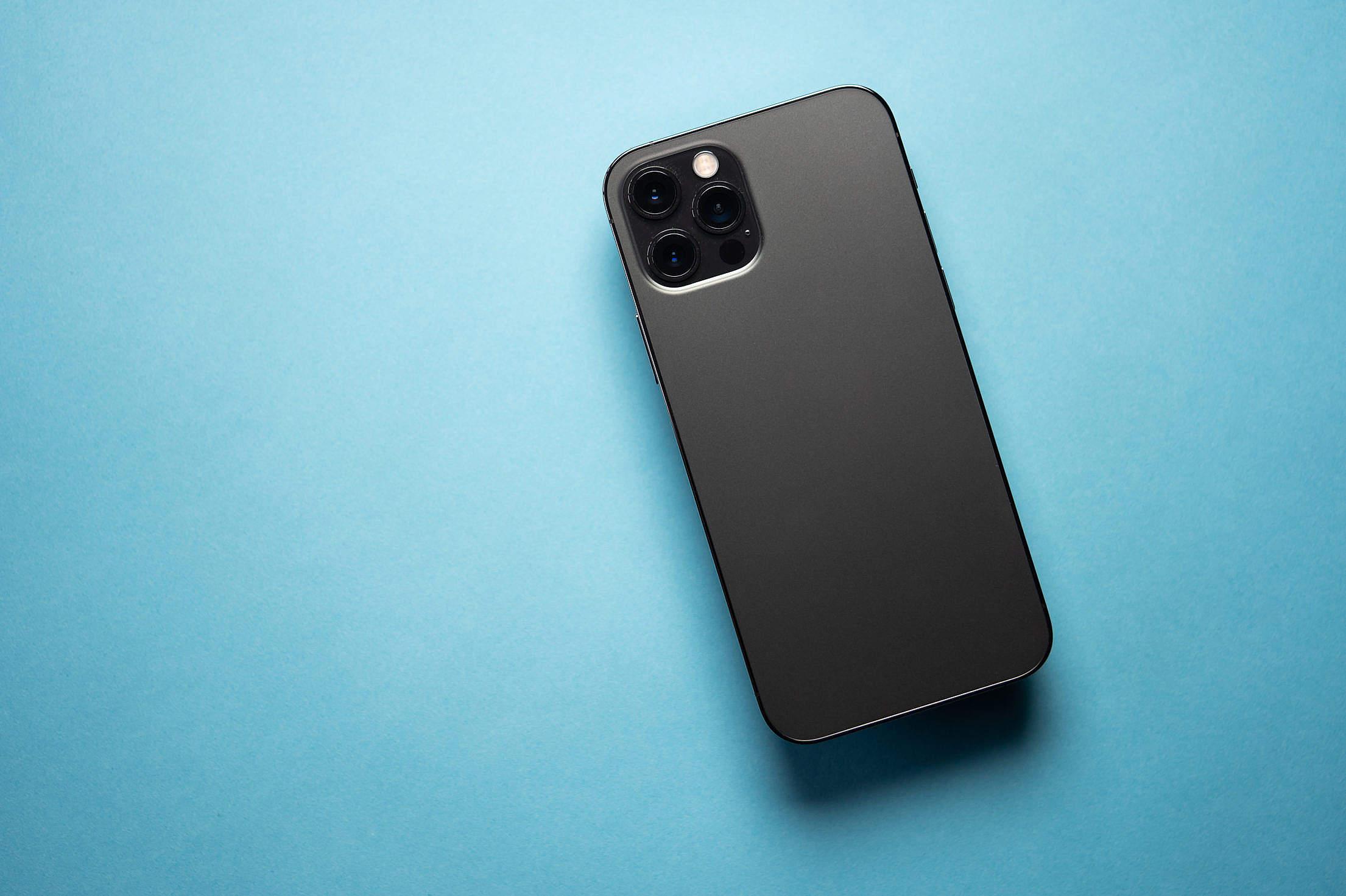 Modern Smartphone Without Brand Logo Free Stock Photo