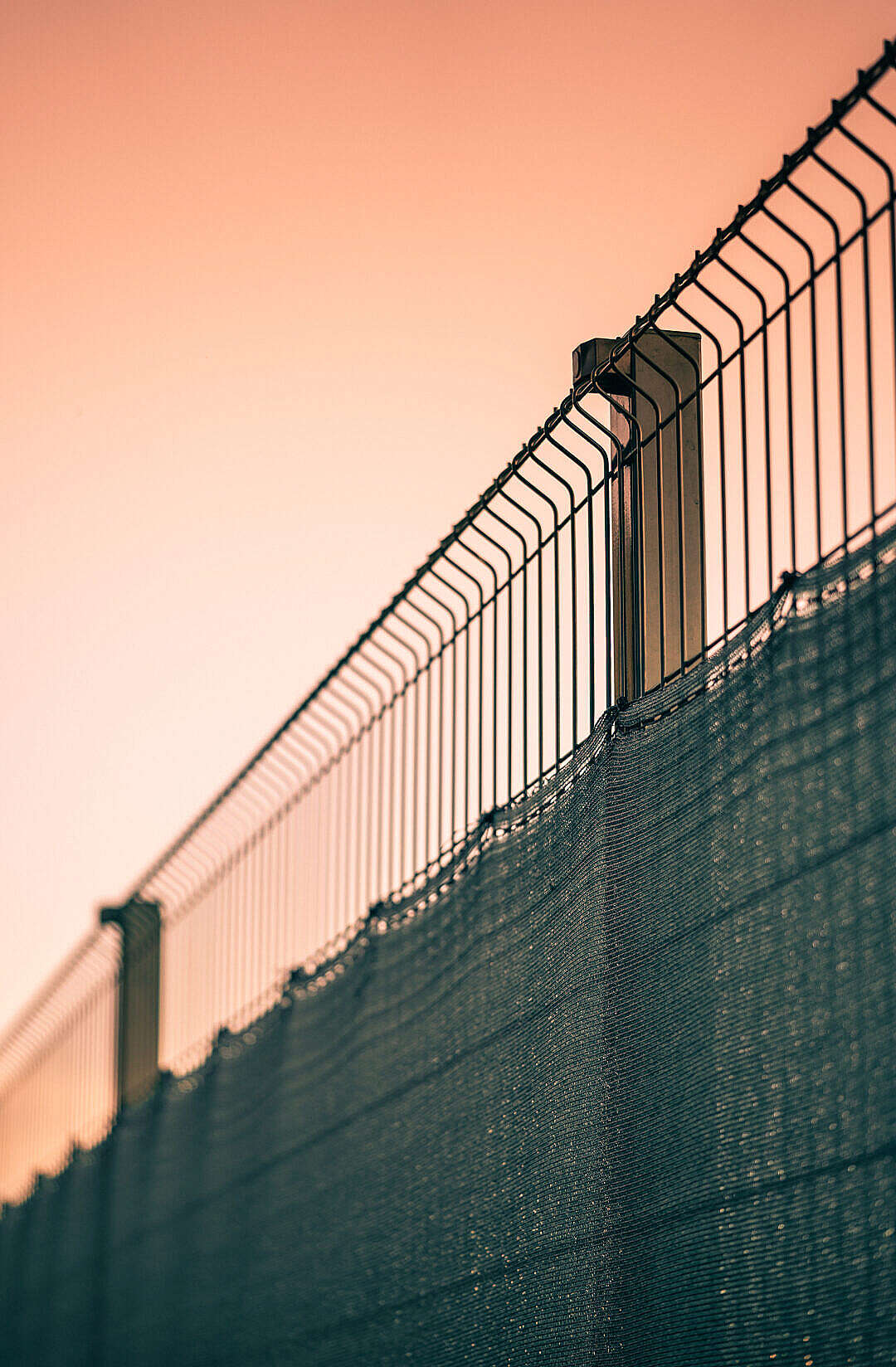 Download Modern Steel Fence FREE Stock Photo