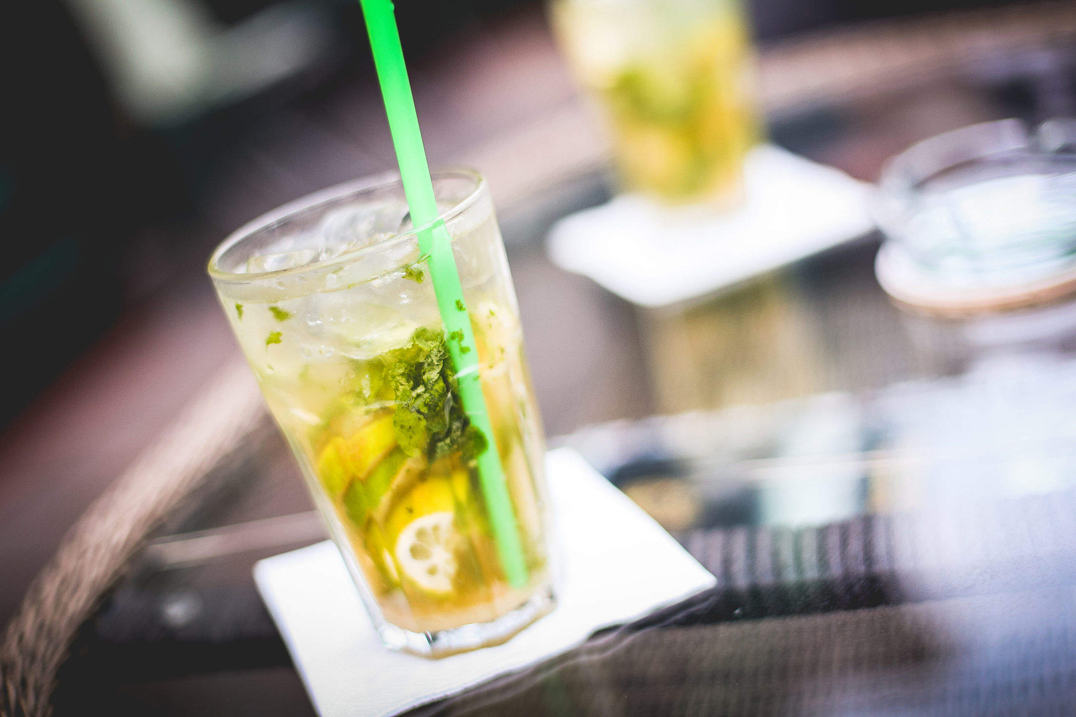 Mojito Drink Detail Free Stock Photo