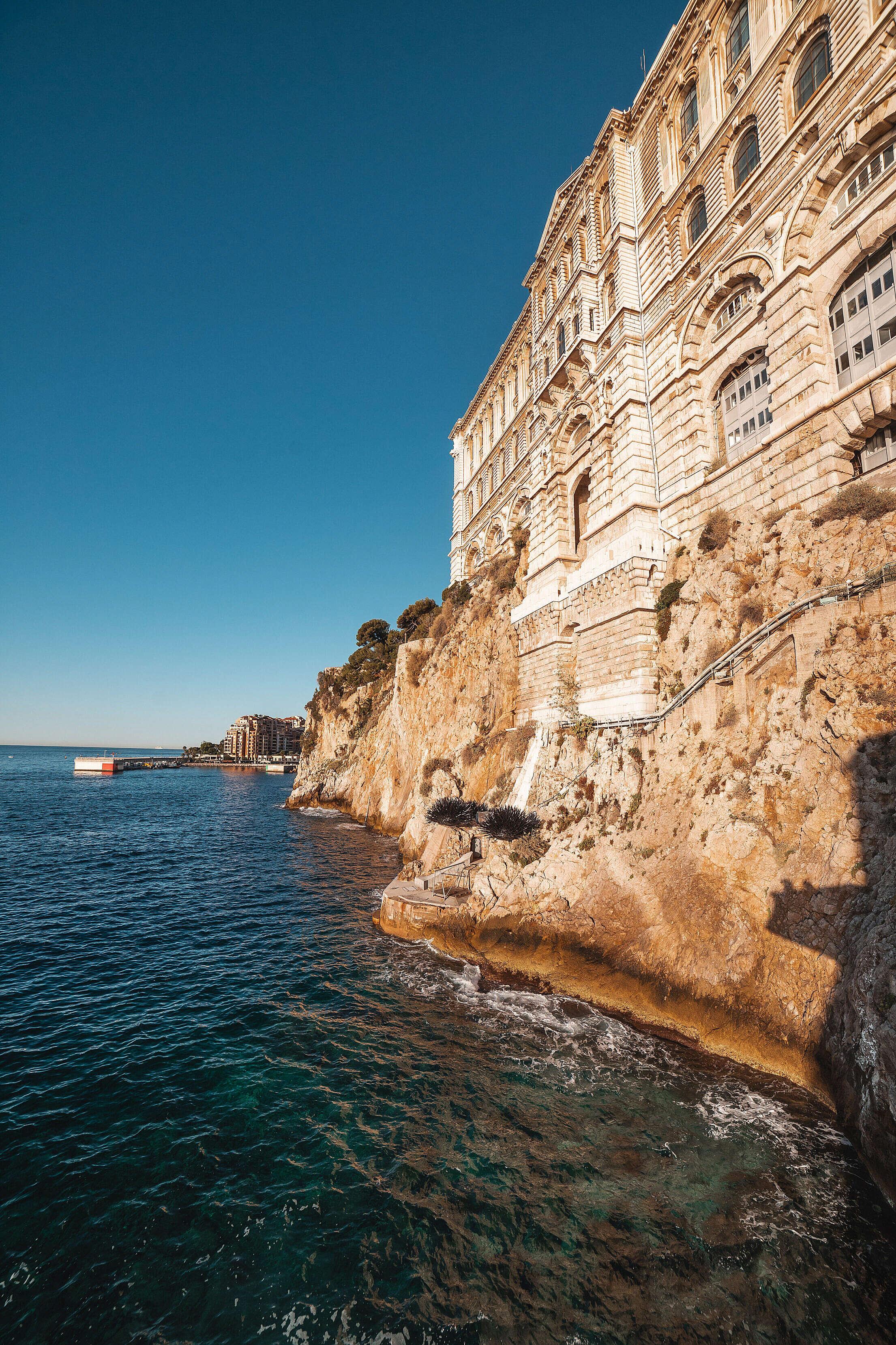 Monaco Oceanographic Museum with Artificial Sea Urchins Free Stock Photo