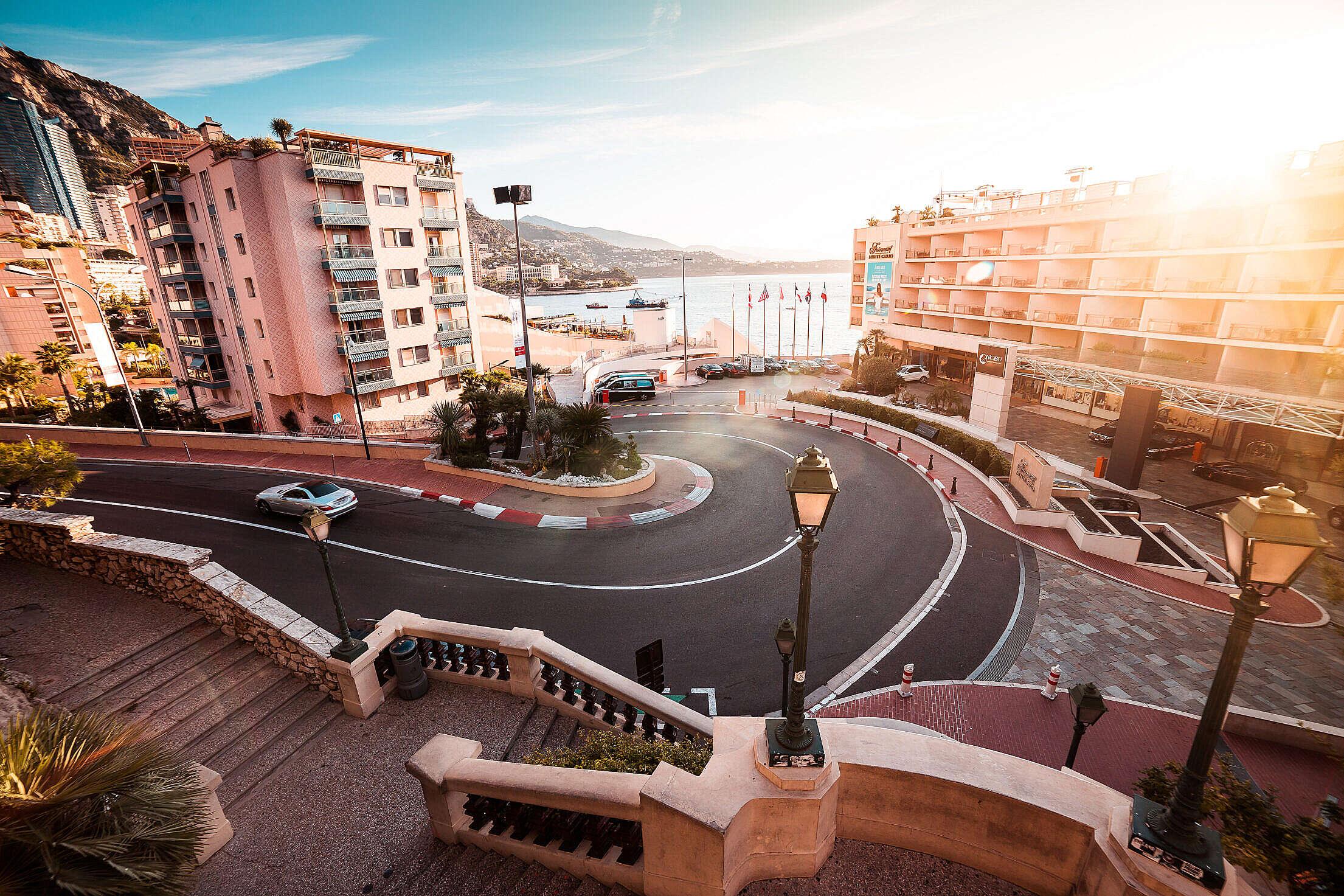 Monte-Carlo F1 Monaco Hairpin Free Stock Photo