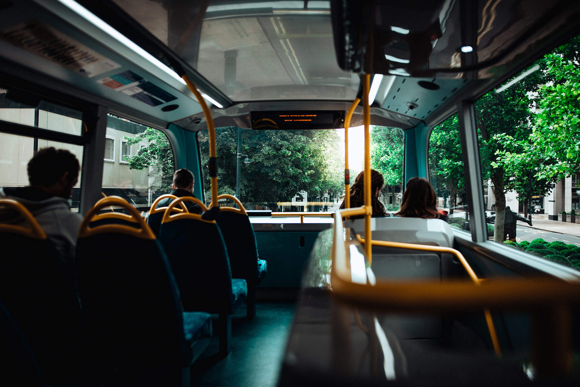 Morning Bus Ride to the Work Free Stock Photo