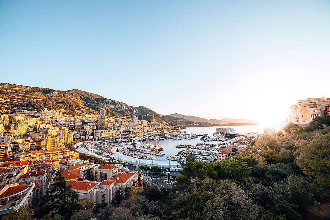 Download Morning Port in Monaco FREE Stock Photo