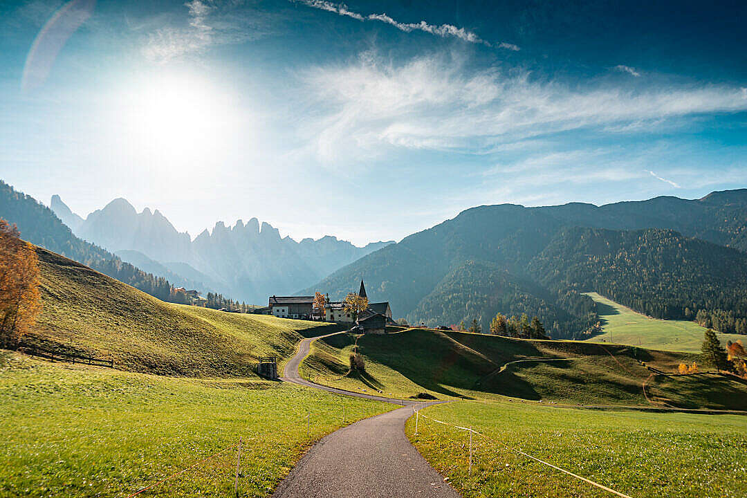 Download Morning View of Dolomites Mountains, Italy FREE Stock Photo