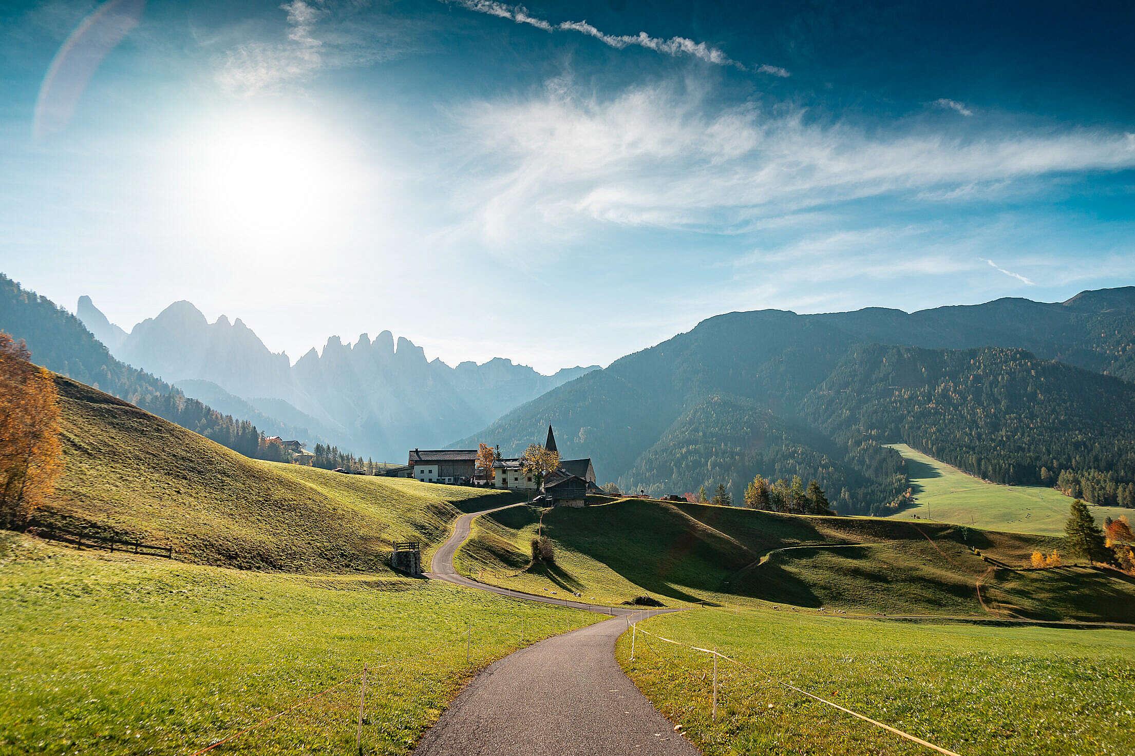 Morning View of Dolomites Mountains, Italy Free Stock Photo