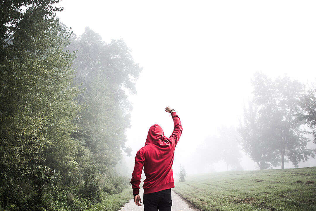 Download Motivation Rocky Balboa Winner Pose FREE Stock Photo