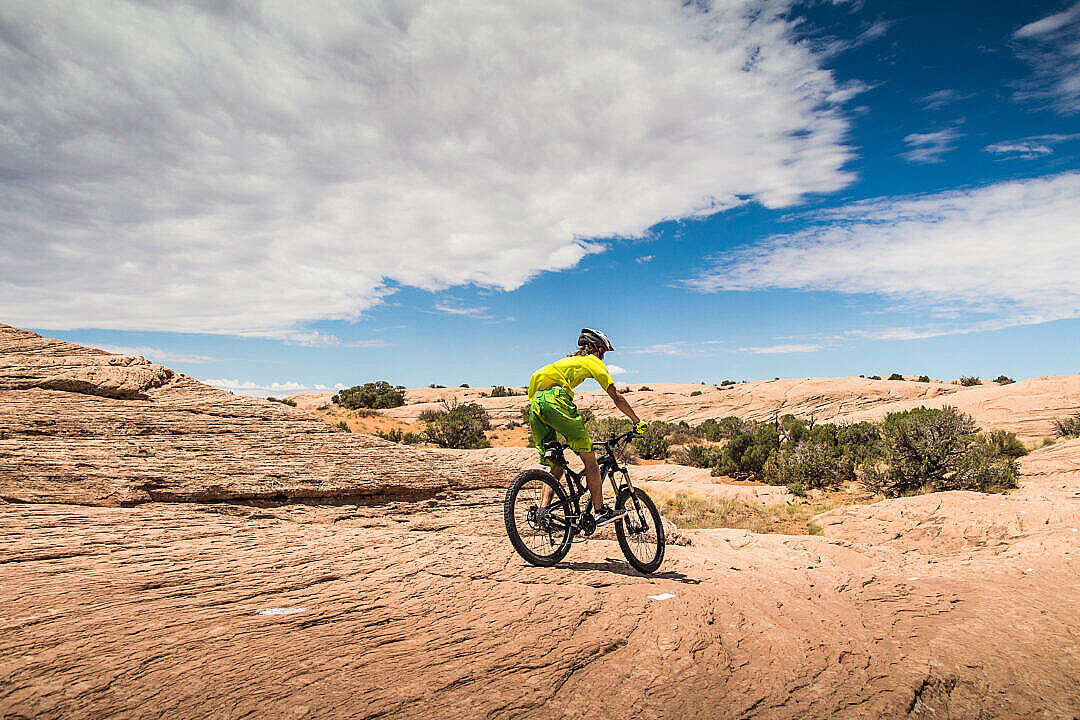 Download Mountain Biking in Utah FREE Stock Photo