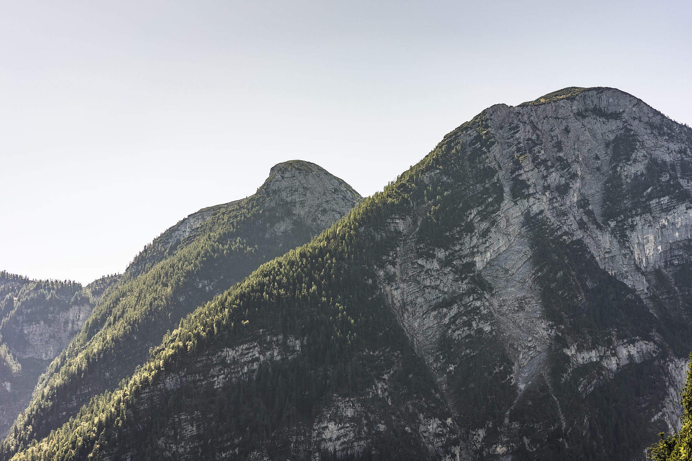 Mountain Peaks Free Stock Photo