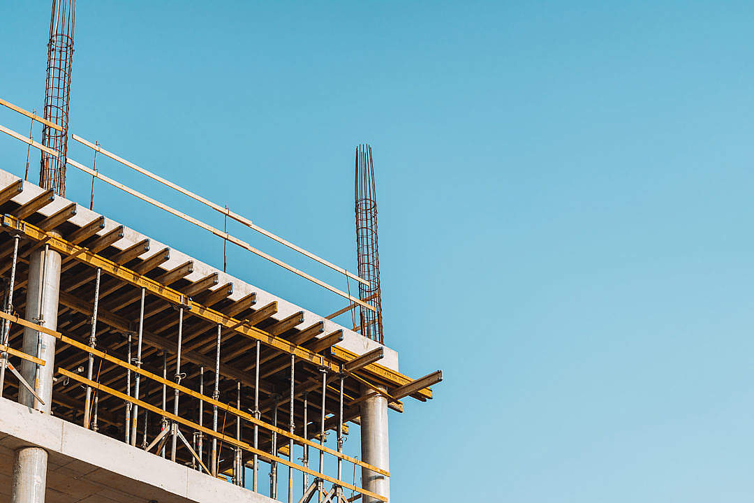Download New Building Construction Site FREE Stock Photo