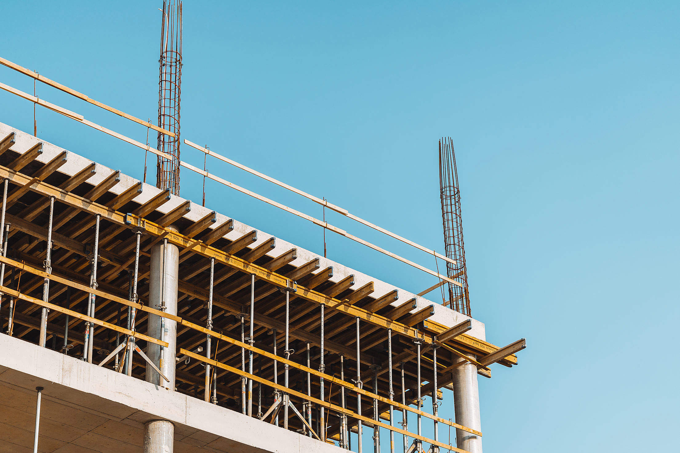 New Office Building Construction Free Stock Photo