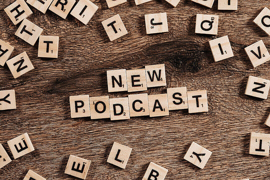 Download New Podcast FREE Stock Photo