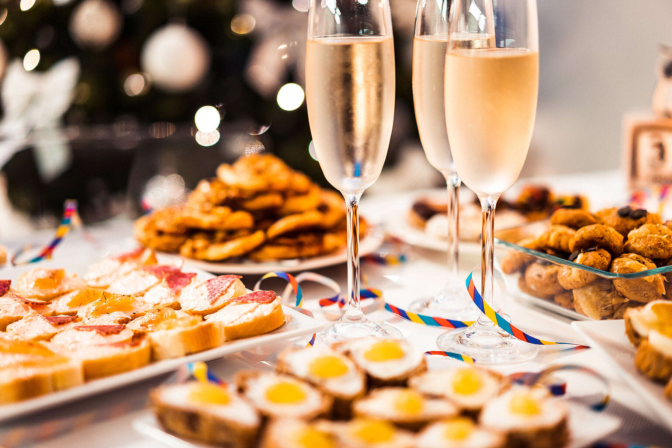 New Year Home Party Free Stock Photo