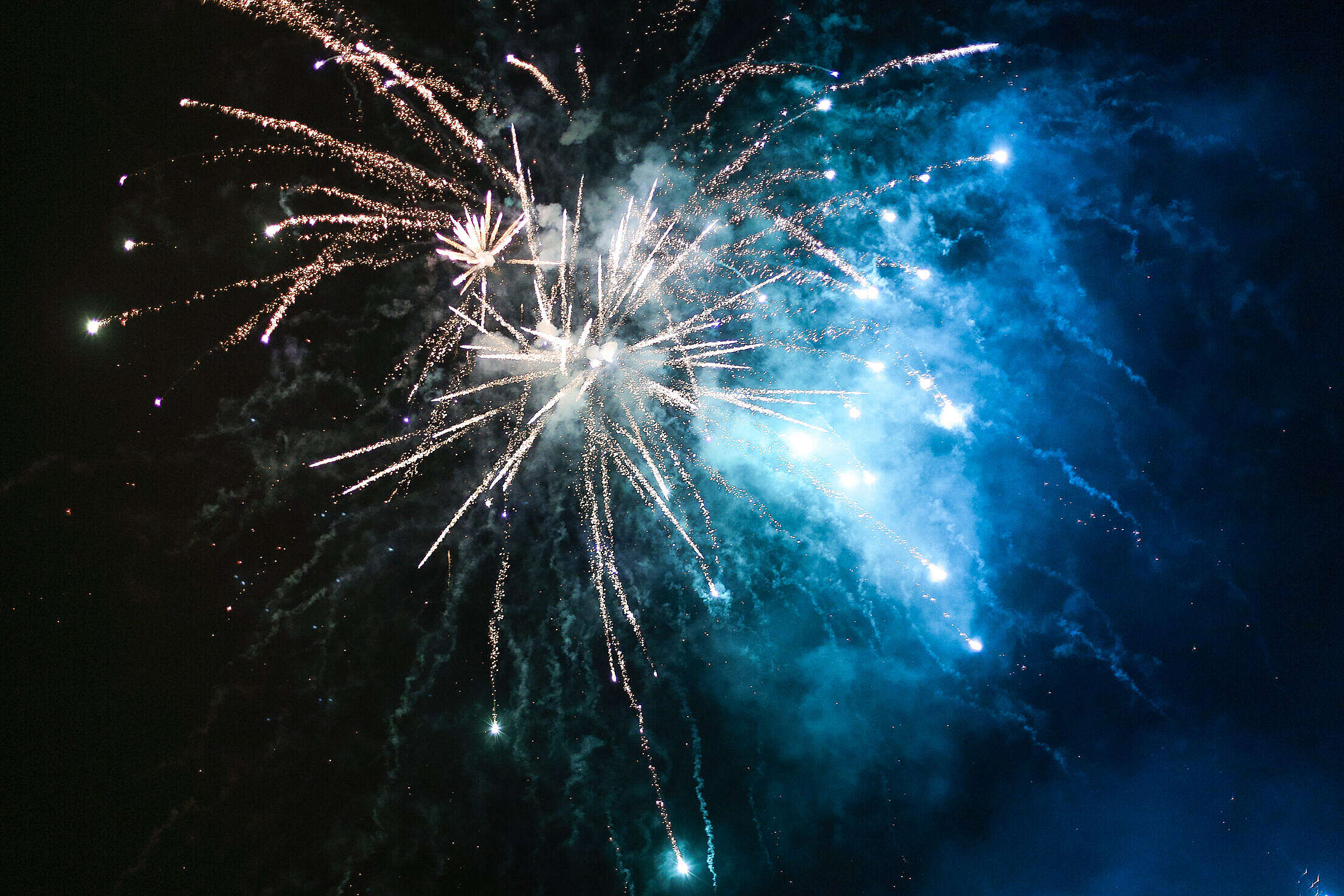 New Year's Eve/Silvester 2015 Fireworks Free Stock Photo