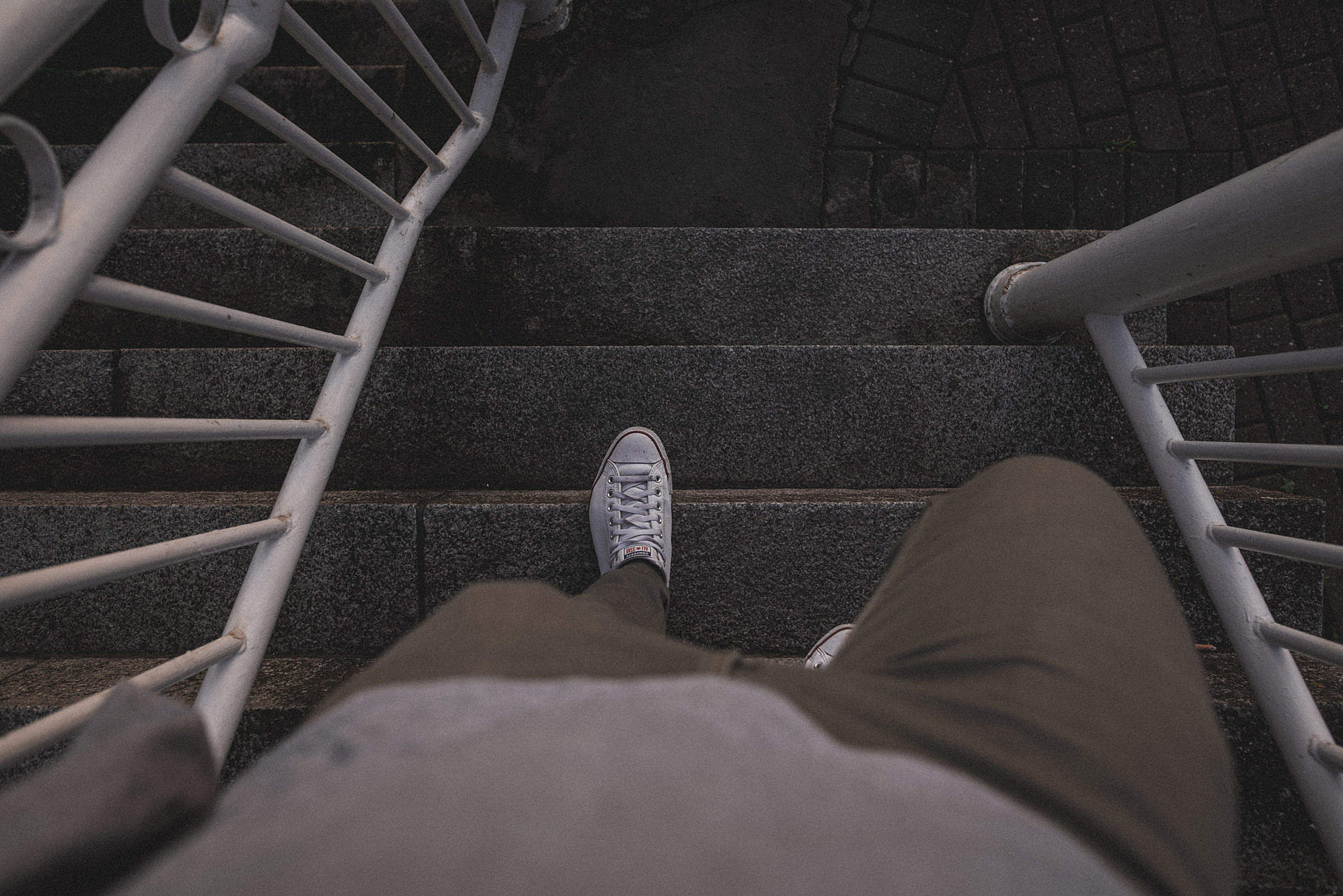 Night Walk of a Lonely Man Free Stock Photo