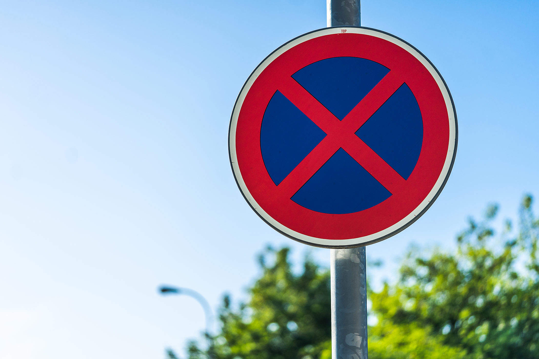 No Parking Traffic Sign Free Stock Photo