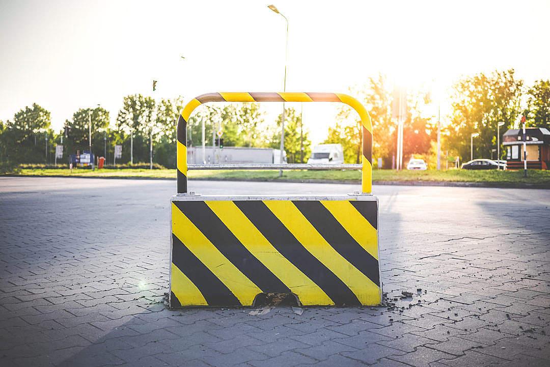 Download No Way Blocked Road Stop FREE Stock Photo