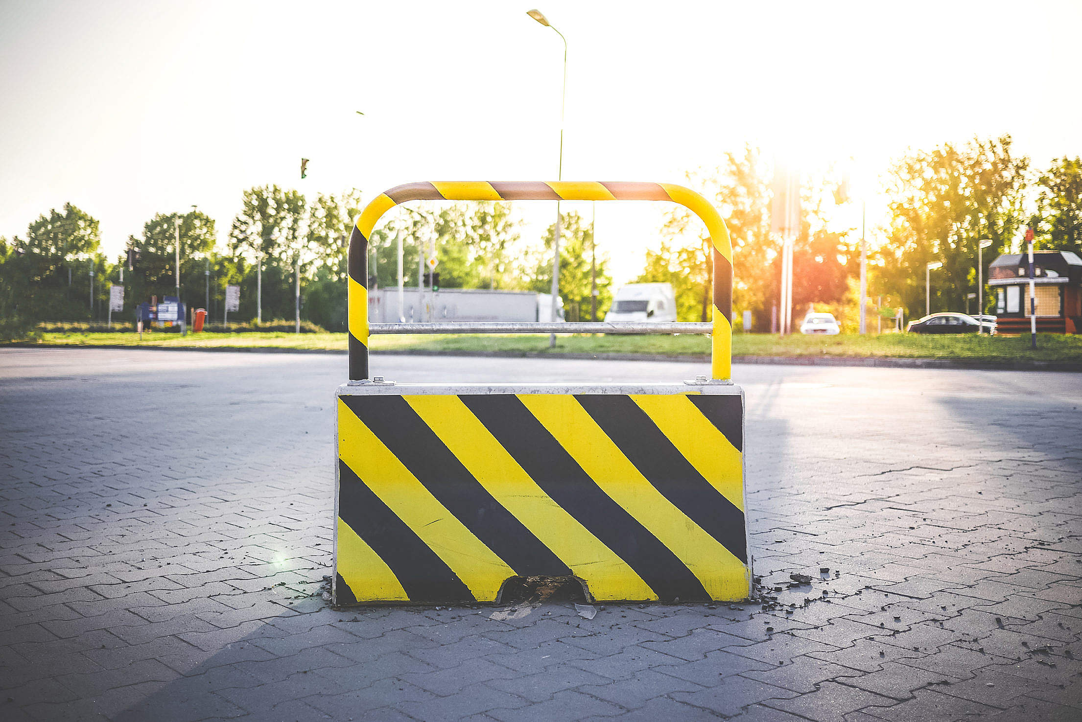 No Way Blocked Road Stop Free Stock Photo