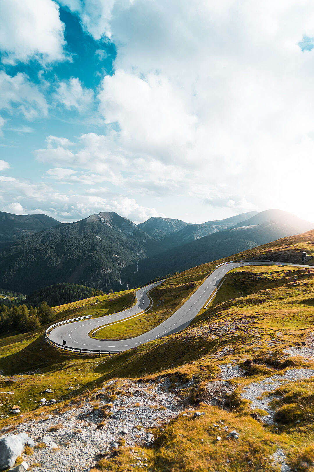 Download Nockalm High Alpine Mountain Road Hairpin Turn FREE Stock Photo