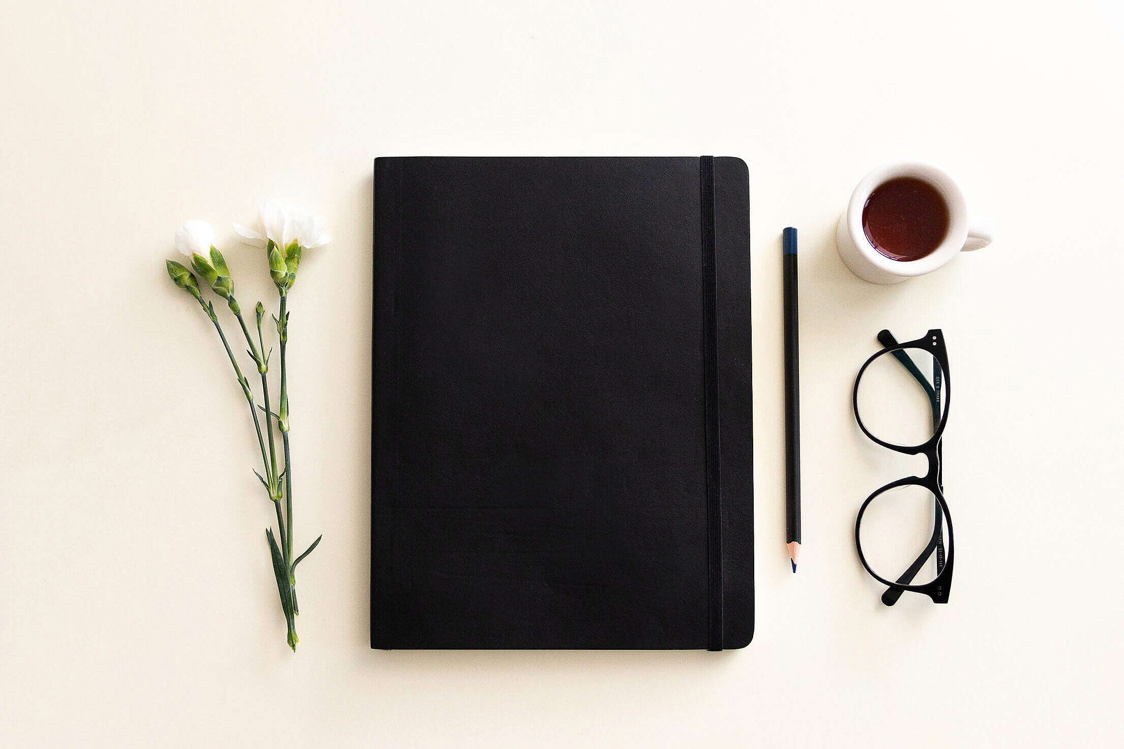 Notebook and Coffee Flatlay Free Stock Photo