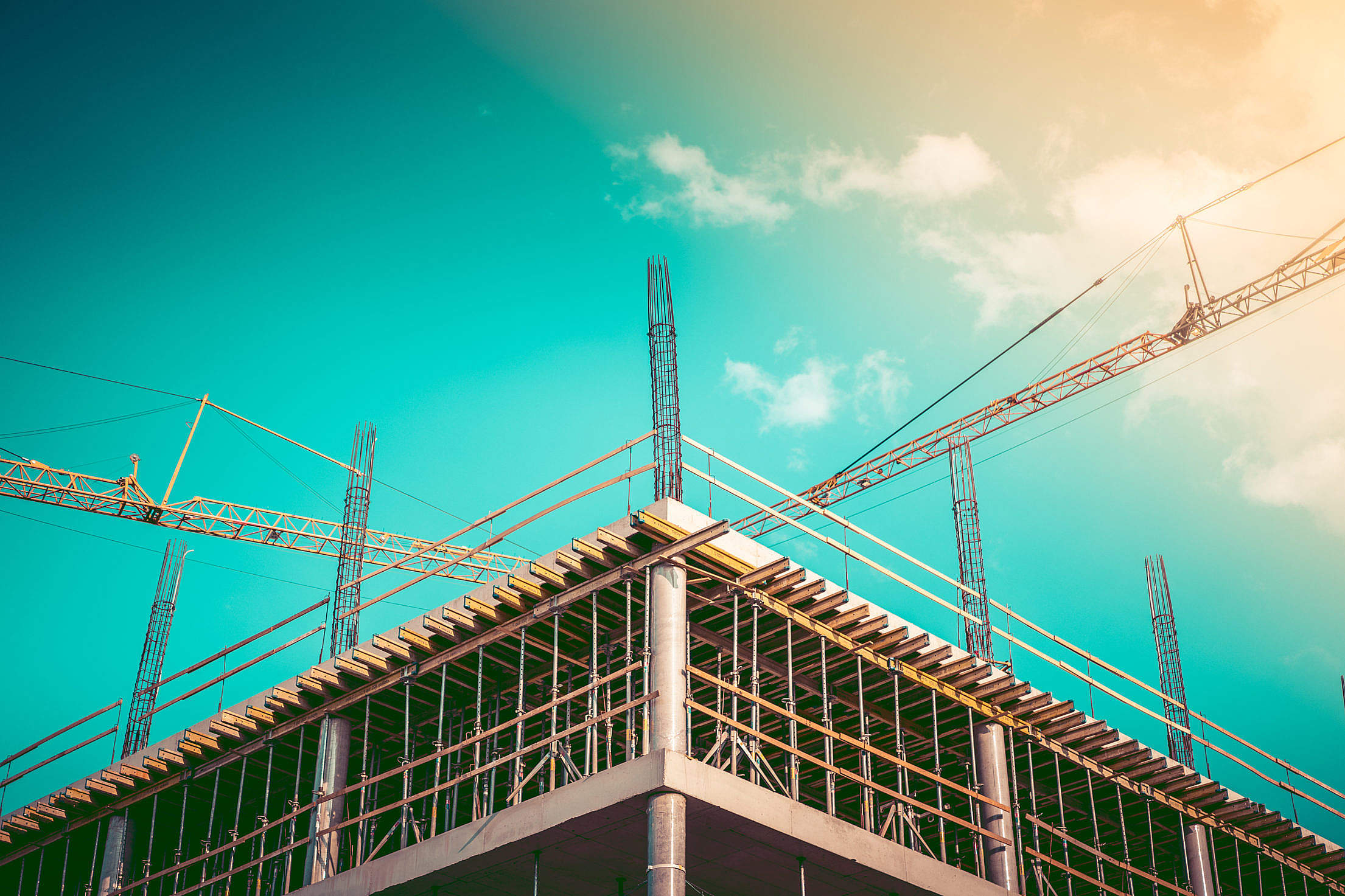 Office Building Construction Site Free Stock Photo