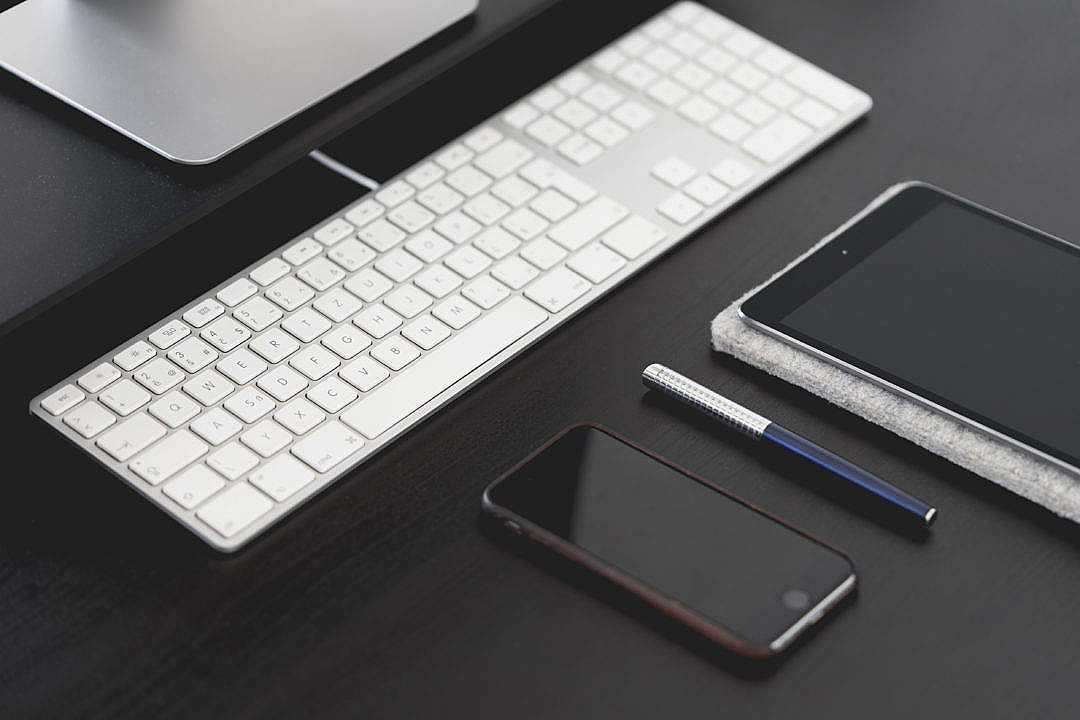 Download Office Desk Gear: Smartphone & Tablet FREE Stock Photo