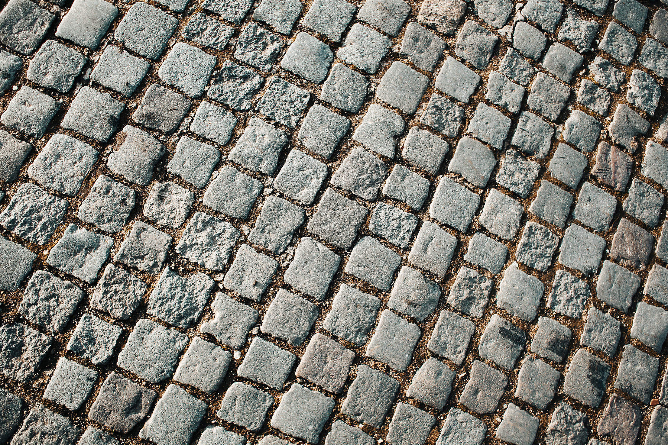 Old Block Pavement Pattern Free Stock Photo