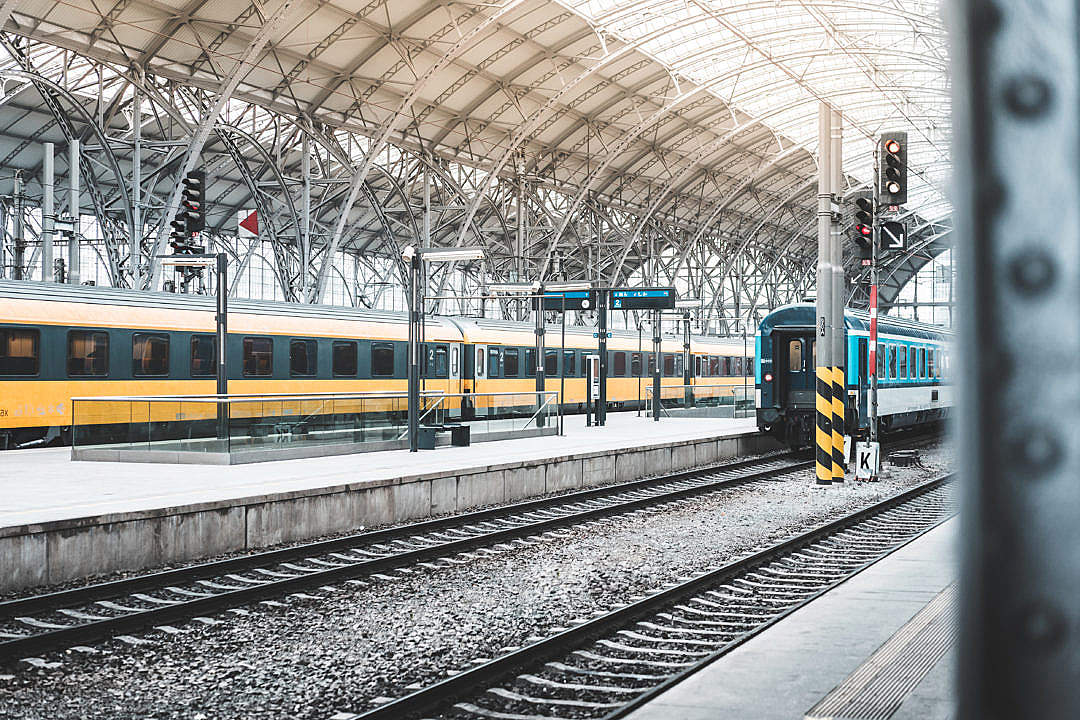 Download Old Industrial Railway Station in Prague, Czechia FREE Stock Photo