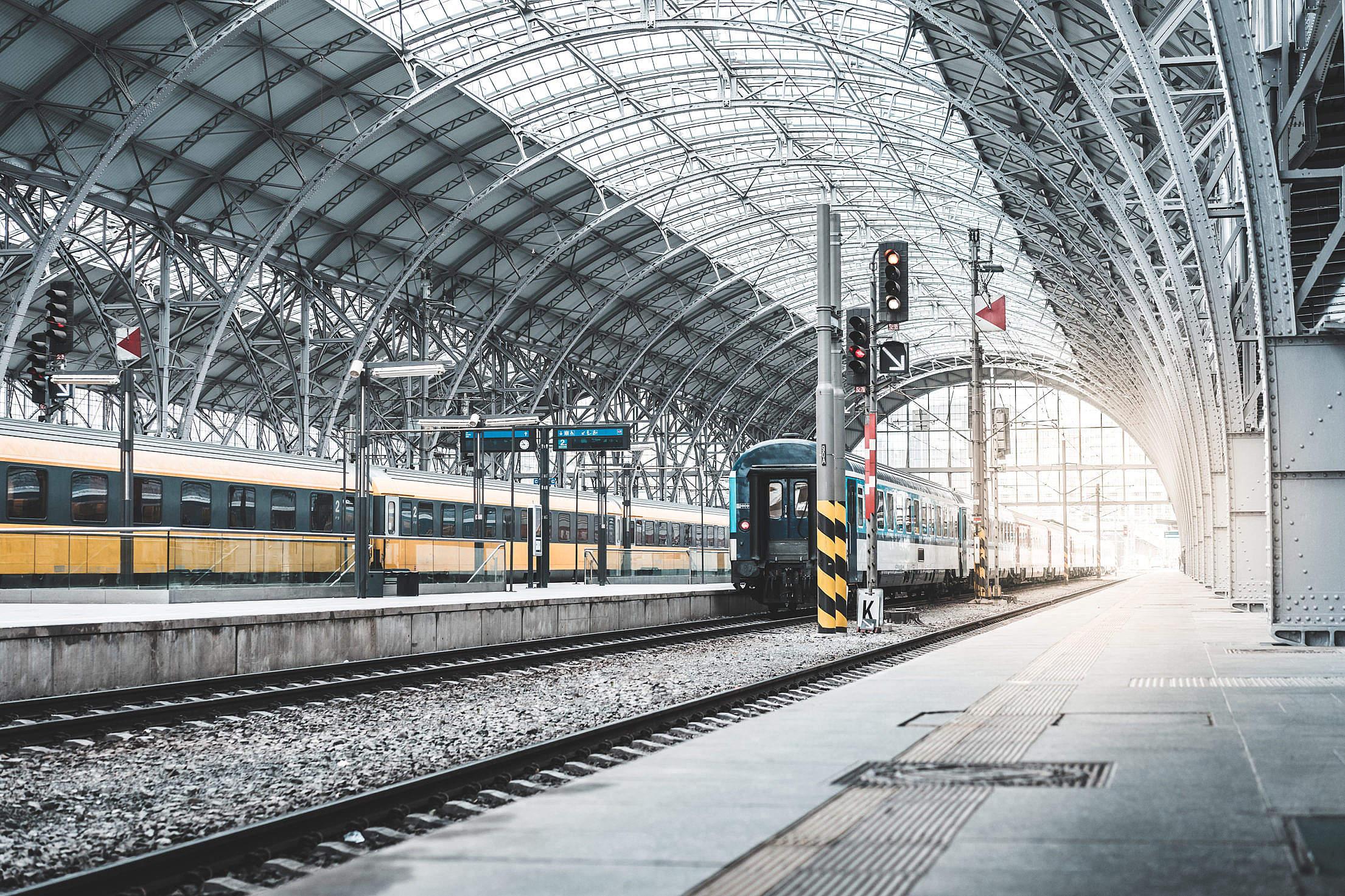 Old Railway Station Free Stock Photo