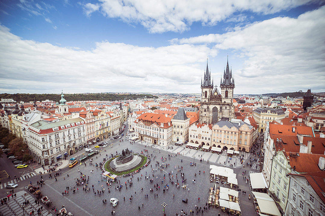 Download Old Town Square in Prague, Czech Republic FREE Stock Photo