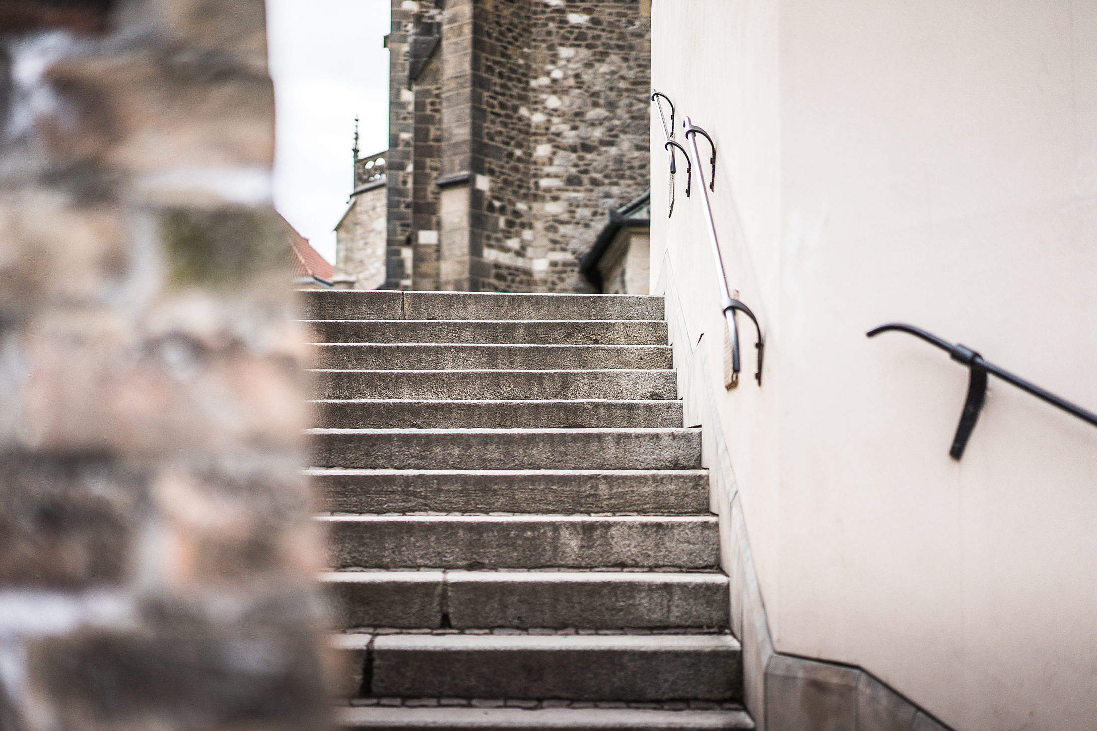 Old Town Stairs Free Stock Photo