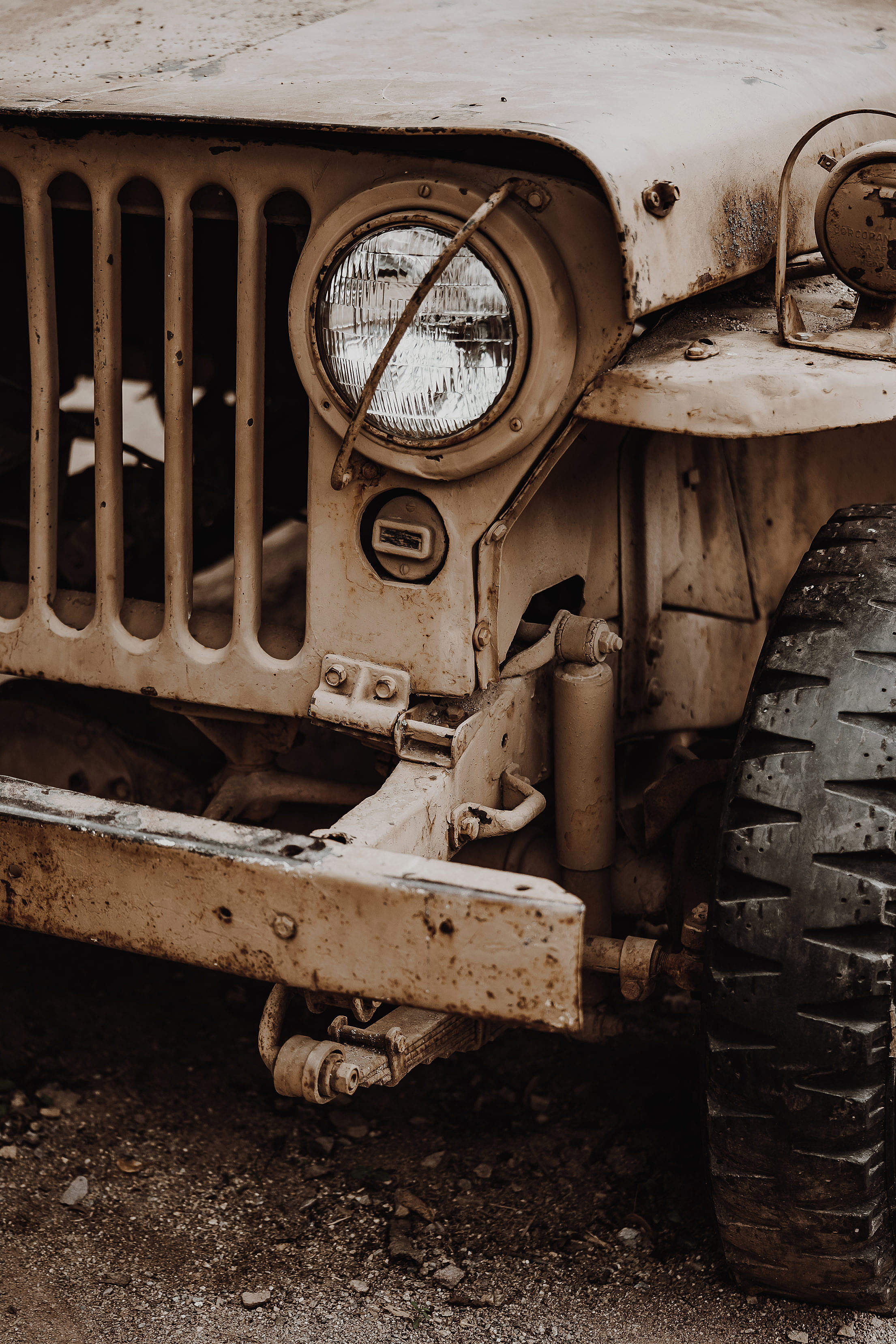 Old Unused & Abandoned Safari Jeep Free Stock Photo