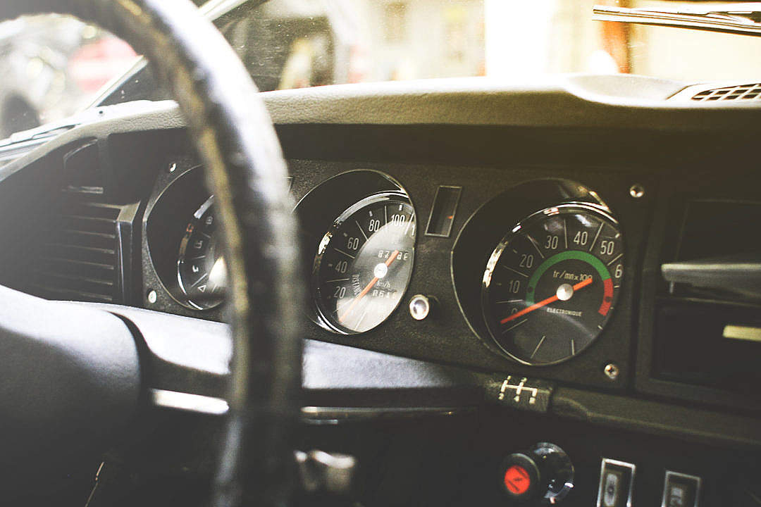 Download Old veteran Car Dashboard FREE Stock Photo