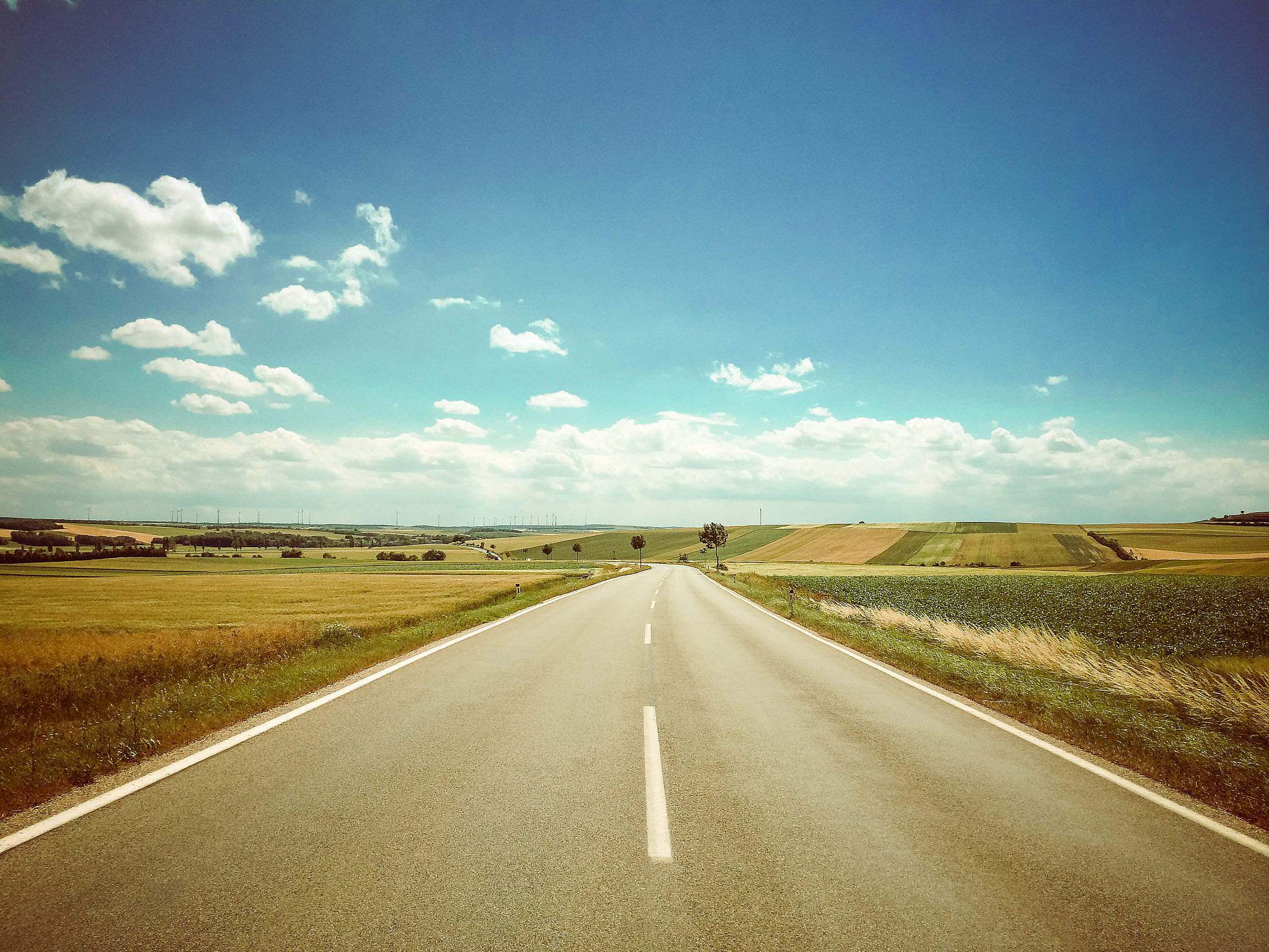 On the road! Free Stock Photo