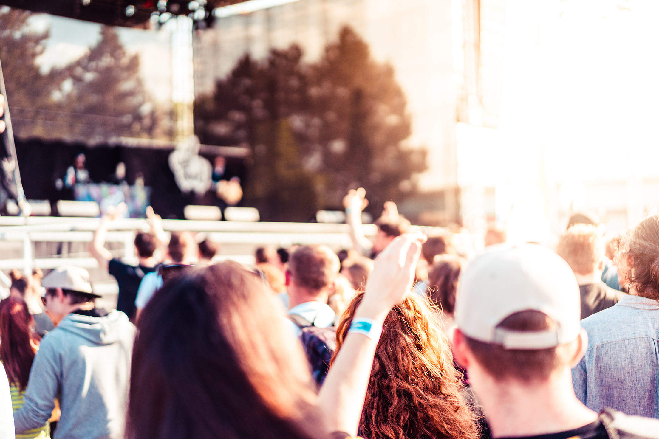Open Air Event and Party People Free Stock Photo