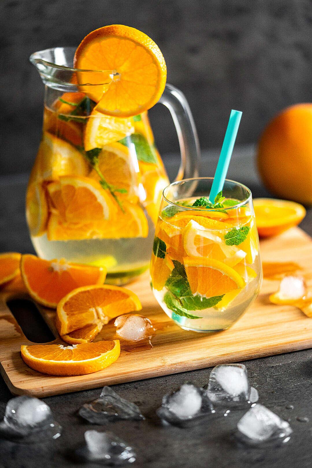 Download Orange Lemonade in The Jug FREE Stock Photo