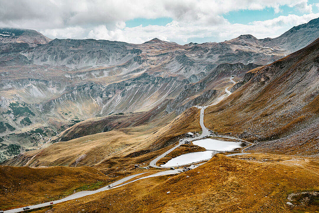 Download Other Side of Grossglockner High Alpine Road in Austria FREE Stock Photo