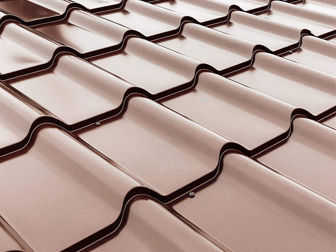 Download Overlapping Rows of Roof Tiles FREE Stock Photo