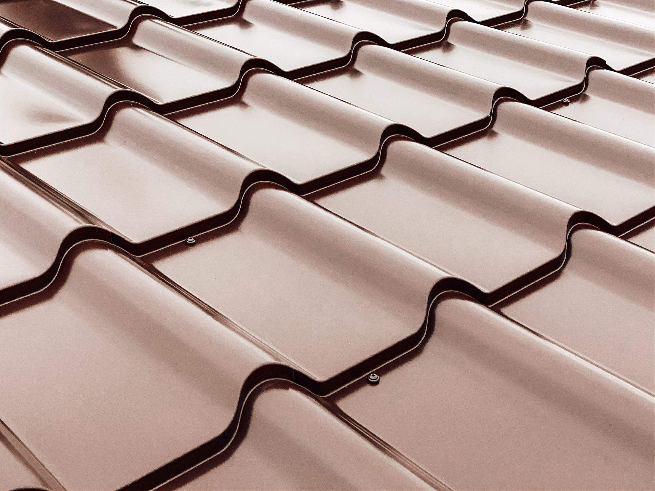 Overlapping Rows of Roof Tiles Free Stock Photo