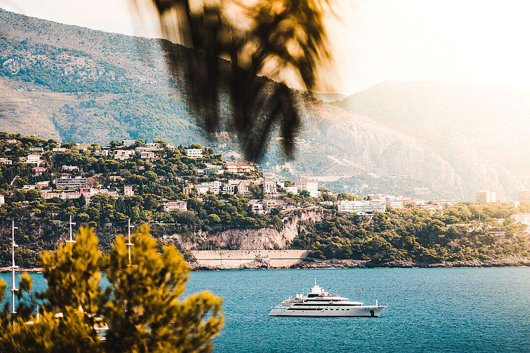 Download Panoramic View of Yacht in Monaco FREE Stock Photo