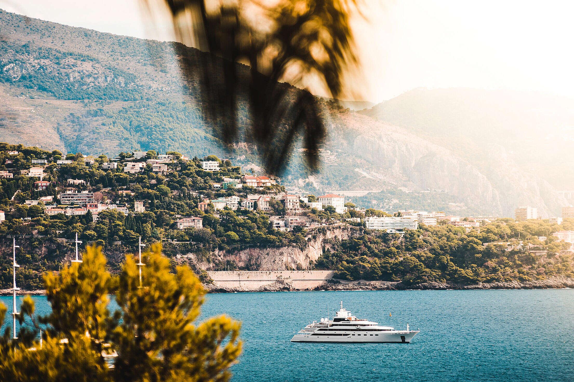 Panoramic View of Yacht in Monaco Free Stock Photo
