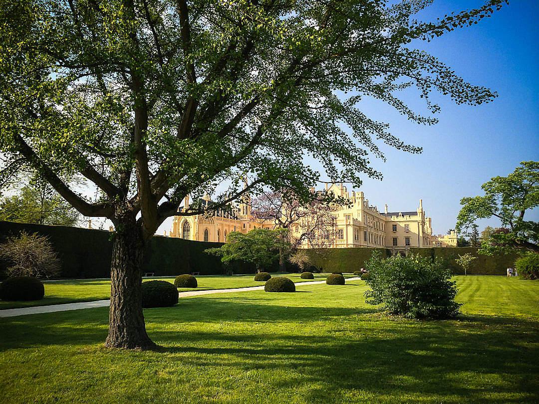 Download Park and Lednice Castle, Czech Republic FREE Stock Photo