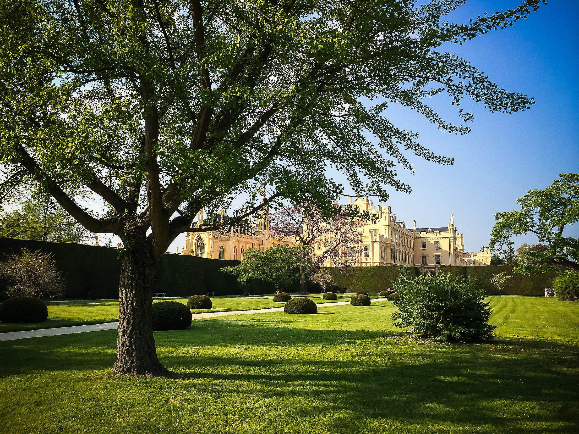 Park and Lednice Castle, Czech Republic Free Stock Photo