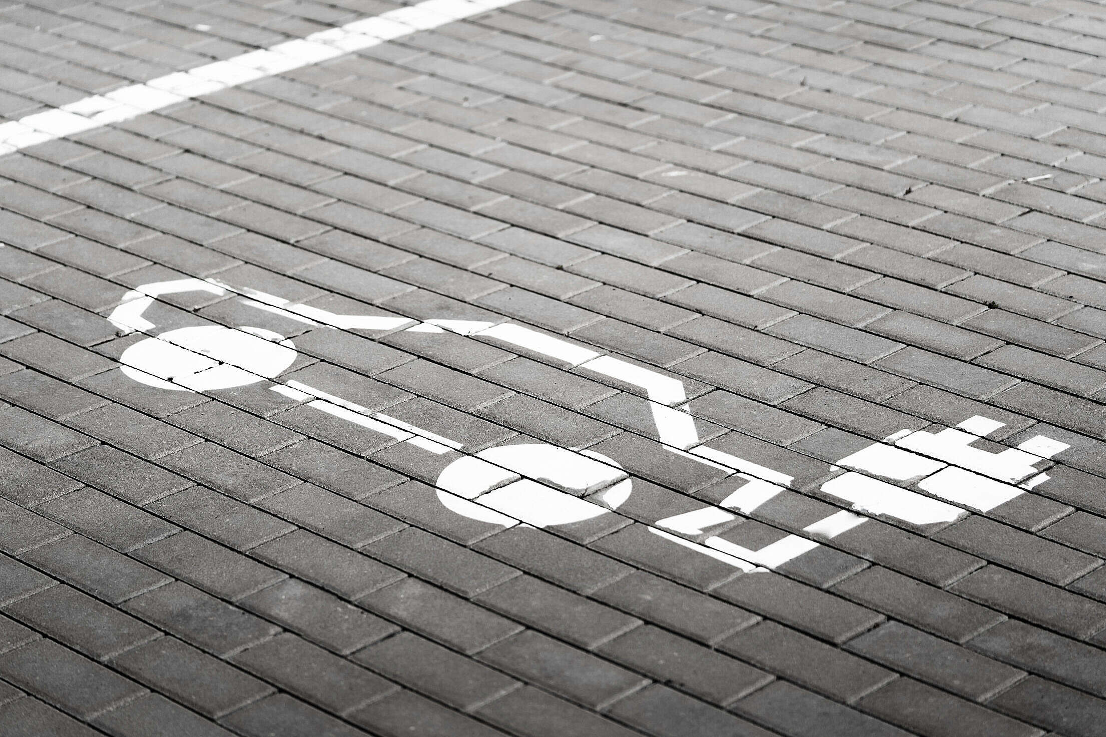 Parking Space for Electric Cars Charging Free Stock Photo