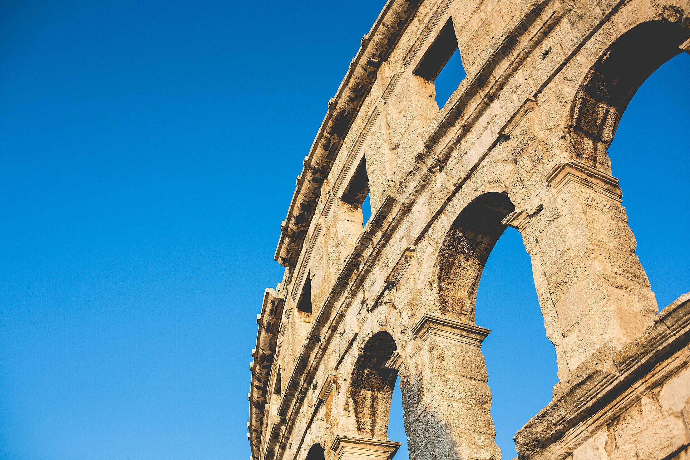 Part of Pula Roman Arena, Croatia Free Stock Photo