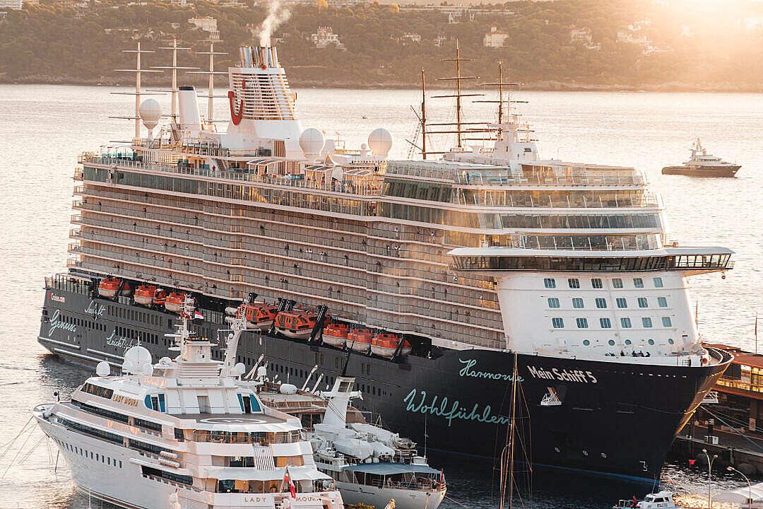 Download Passenger Cruise Ship Mein Schiff 5 in Monaco FREE Stock Photo