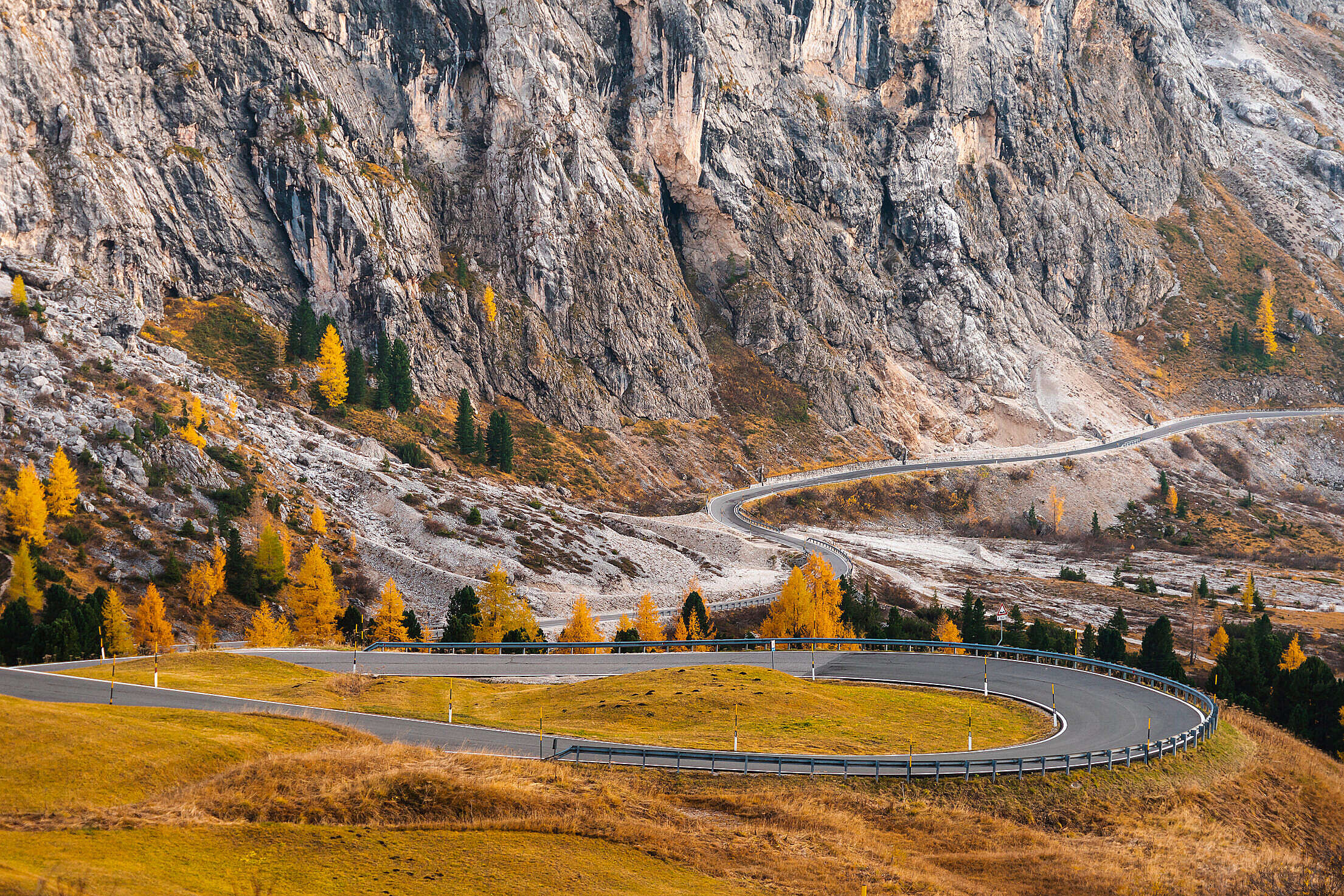 Passo Gardena in Dolomites, Italy Free Stock Photo